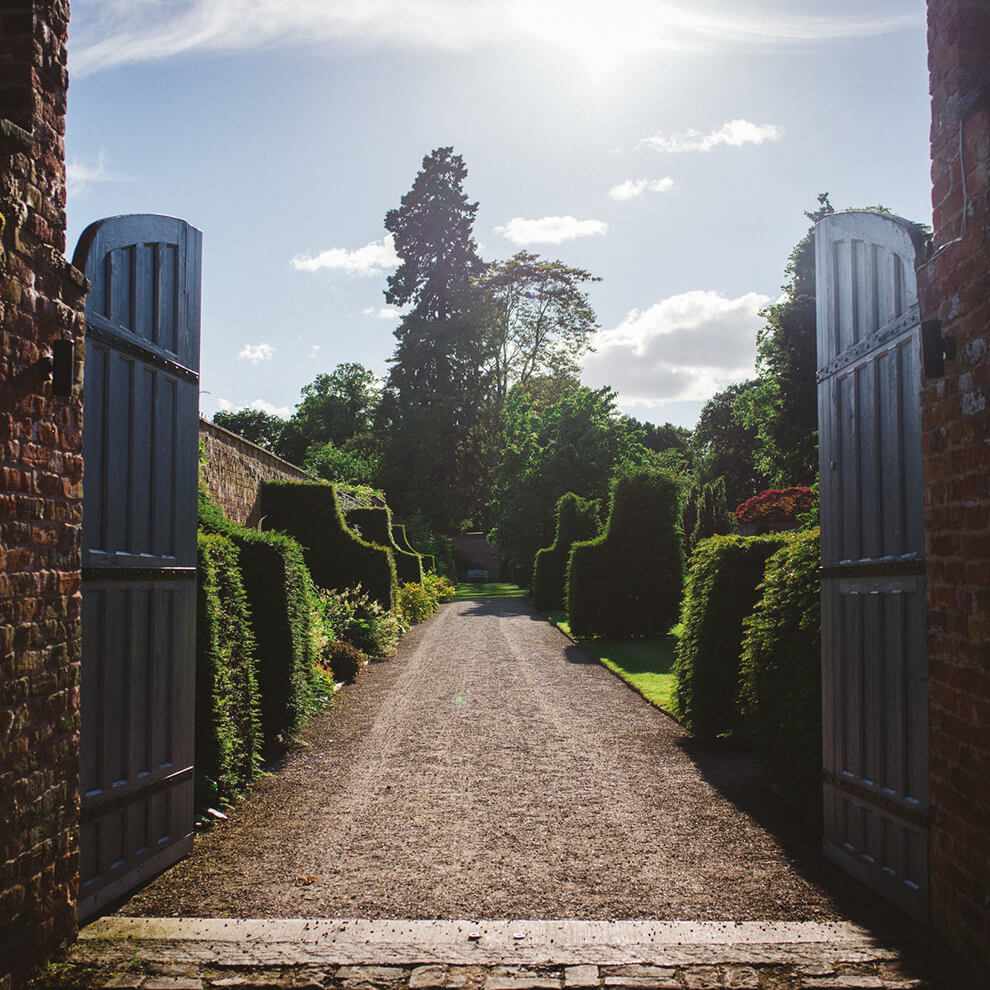 Explore the beautiful gardens and abbey at Combermere and enjoy exclusive use