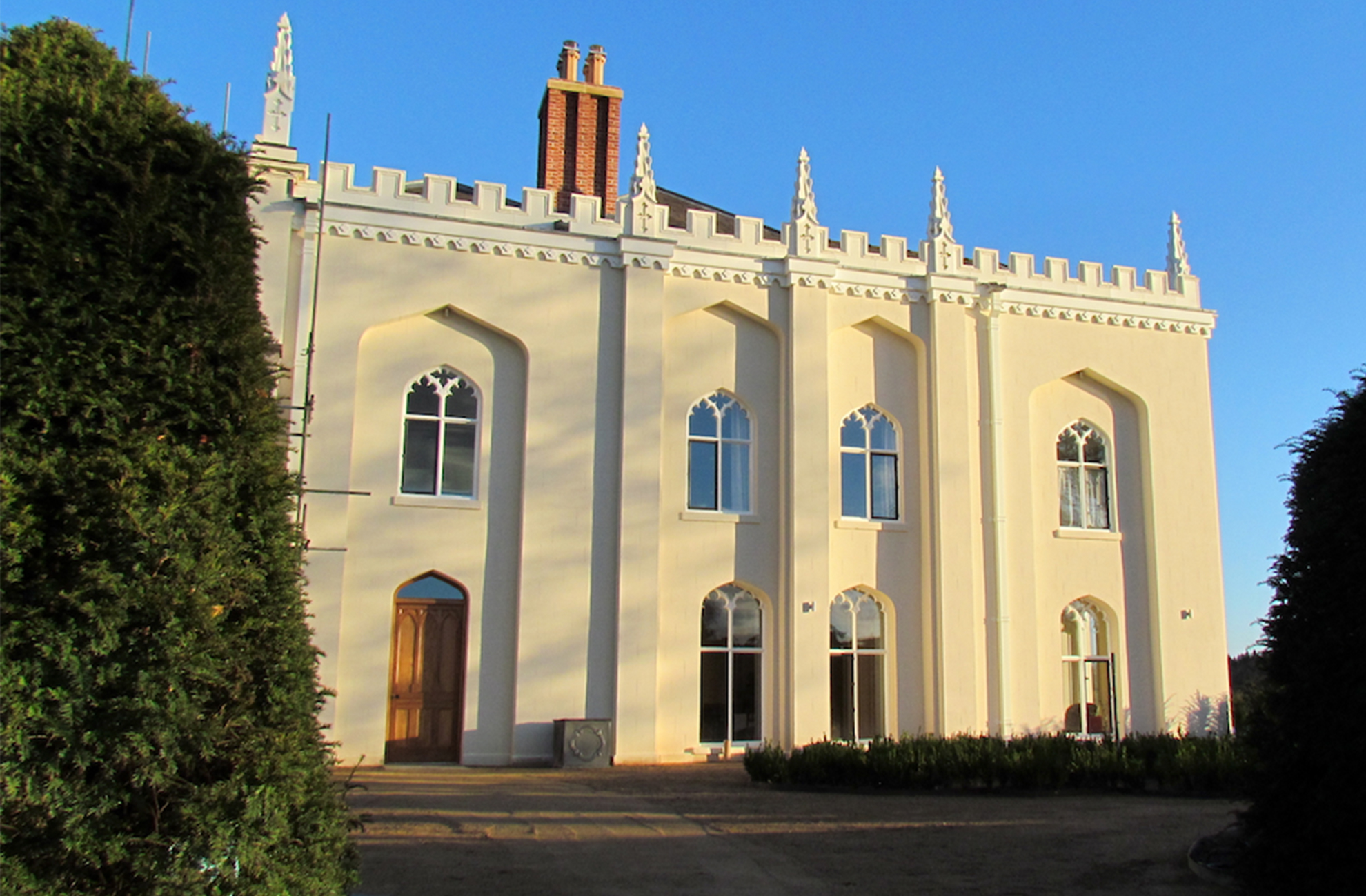 The North Wing at Combermere Abbey used for guest and wedding accommodation in Shropshire