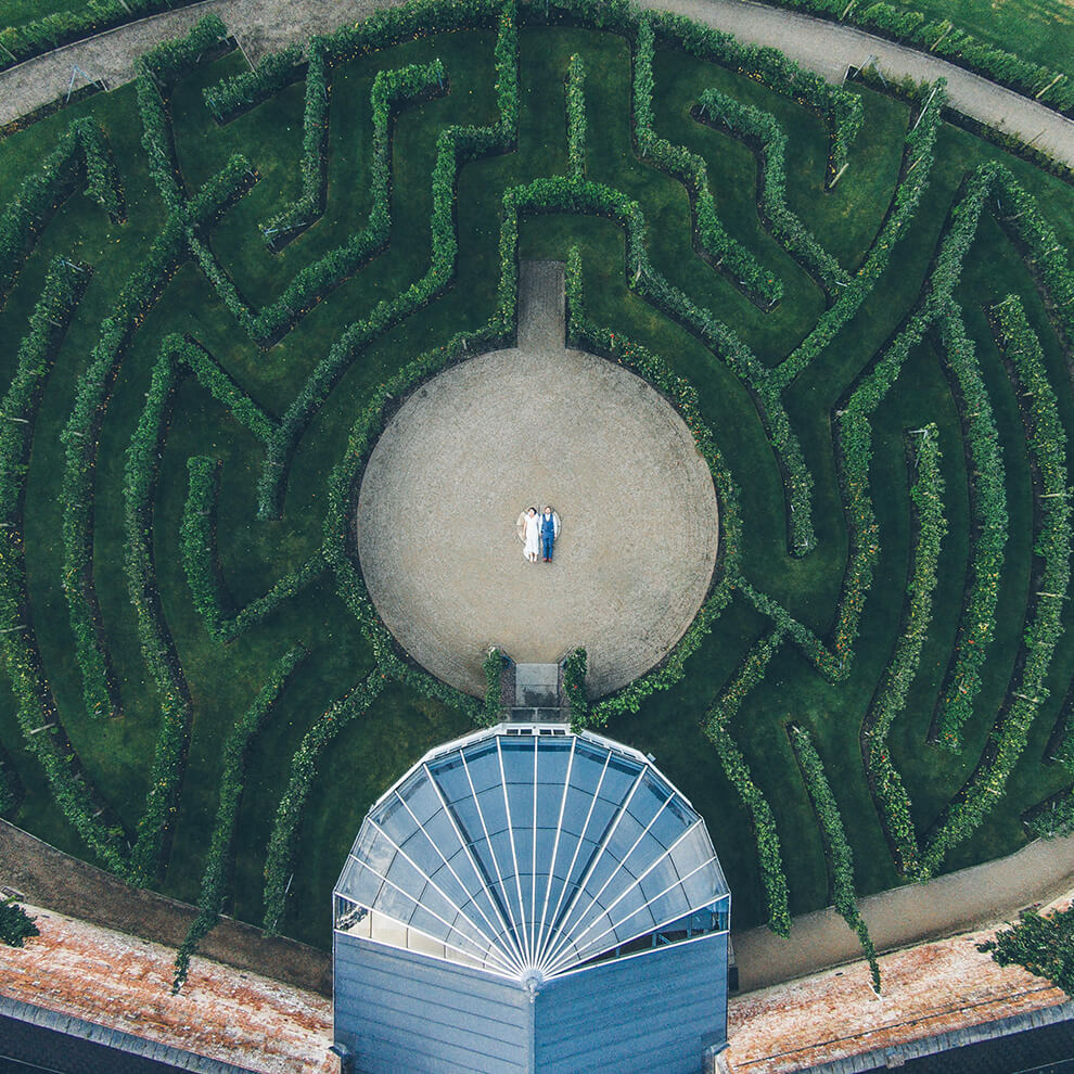 Your wedding guests will enjoy exploring the only known fruit tree maze in the world