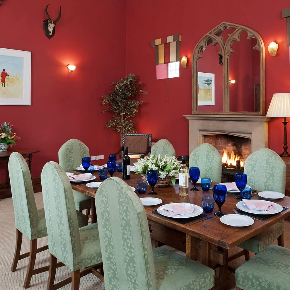Enjoy private dining in your very own holiday cottage with luxury furnishings and stylish décor