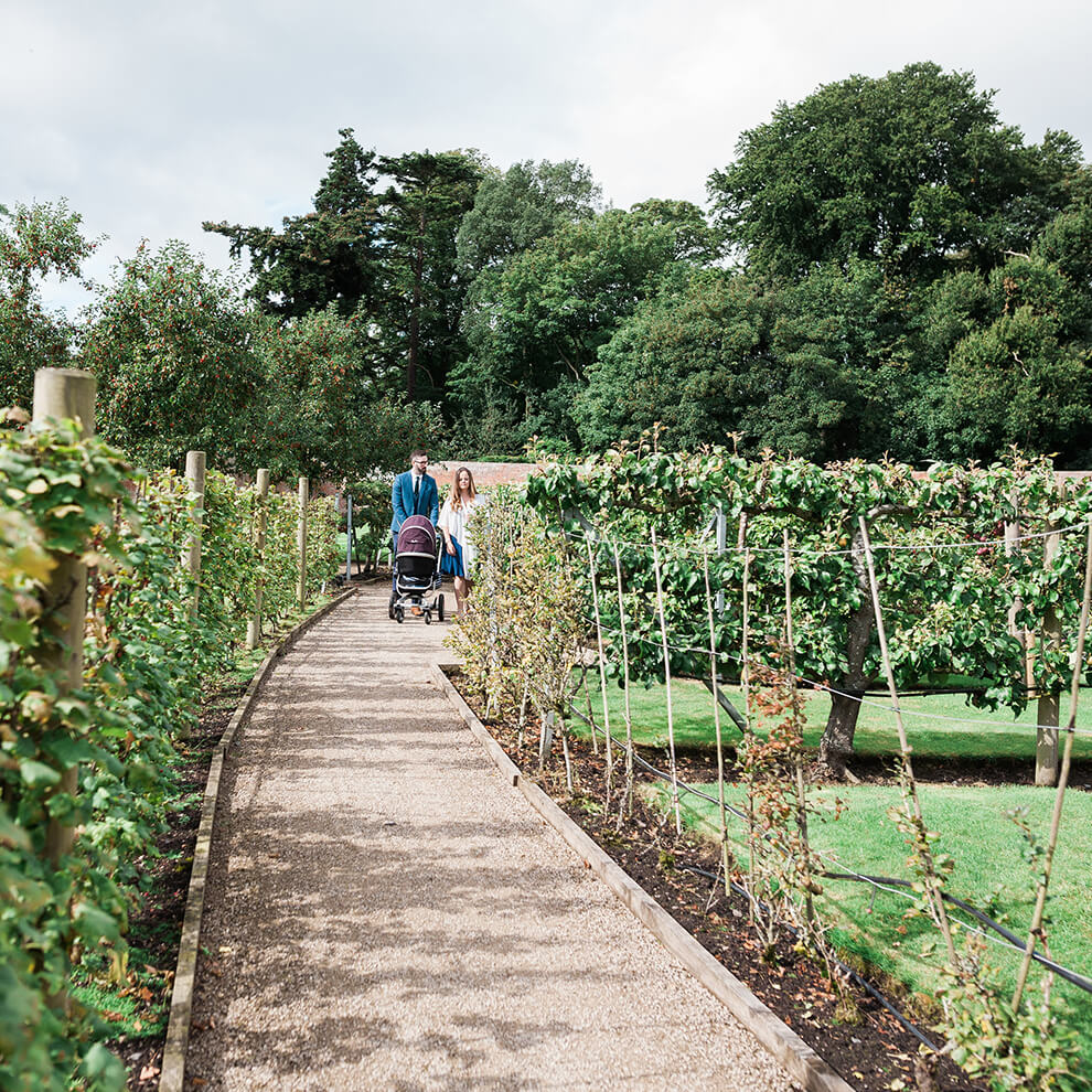 During your stay at the North Wing you can enjoy time exploring the gardens and fruit tree maze