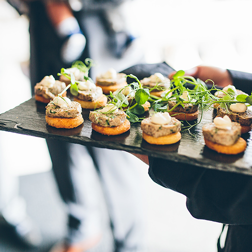 Delicious Wedding Canapes Are Served To Guests After The