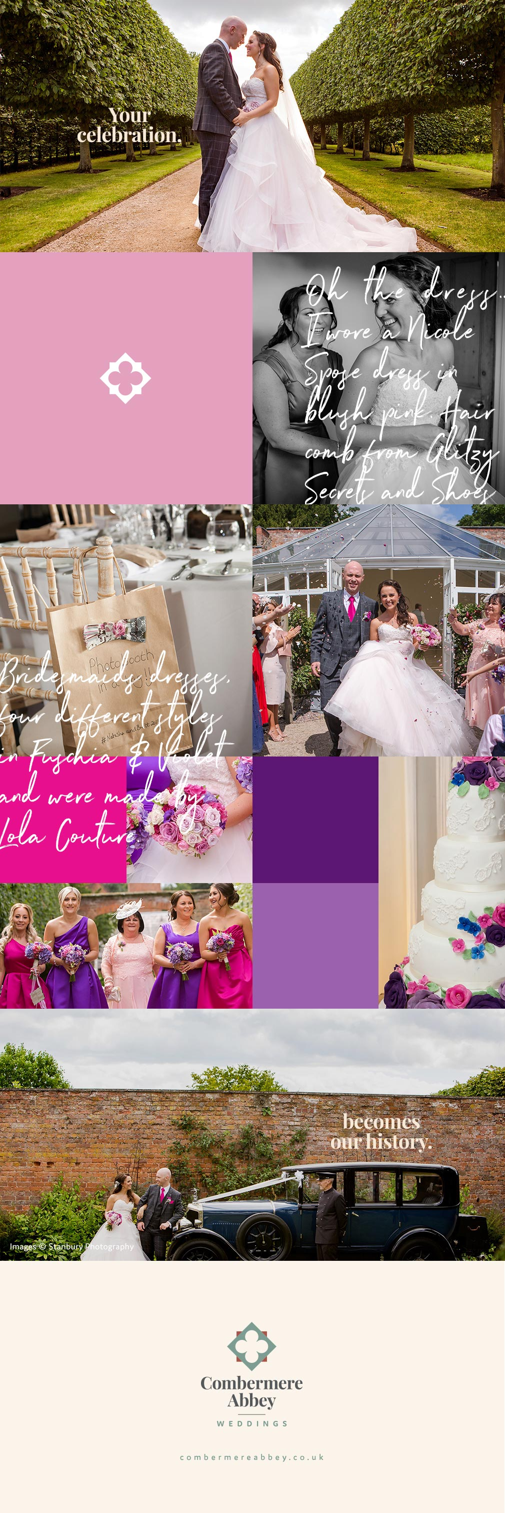 Natasha and Brett's real life wedding at Combermere Abbey