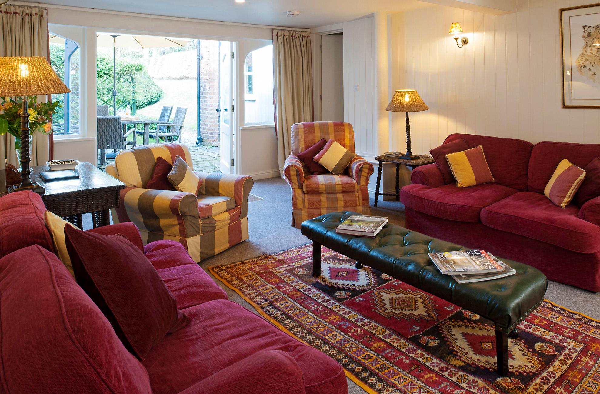 Make a weekend of it and book a stay at Combermere Abbey in Cheshire in our award winning cottages