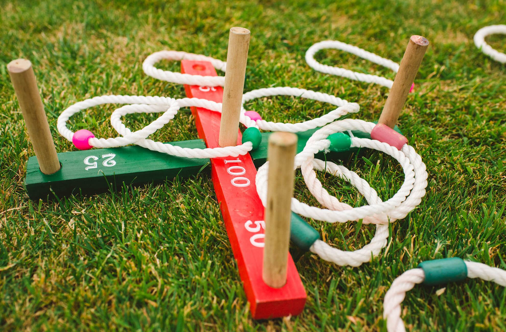 A game of hoopla is suitable for wedding guests of all ages and is perfect to play in the gardens at Combermere Abbey