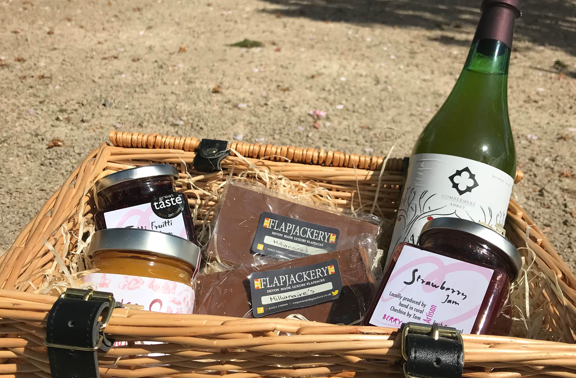 Guests who stay at Combermere Abbey receive a beautiful food hamper