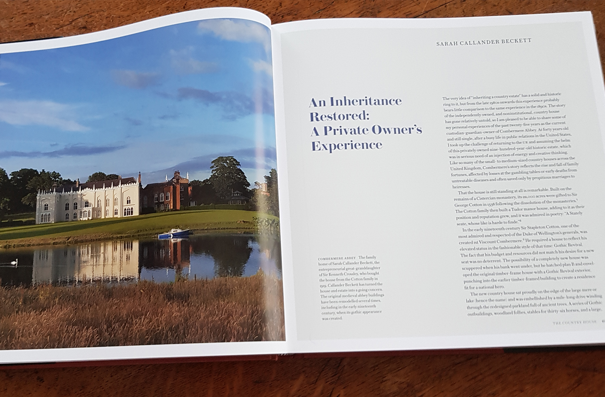 Combermere Abbey Is featured In a new country house book