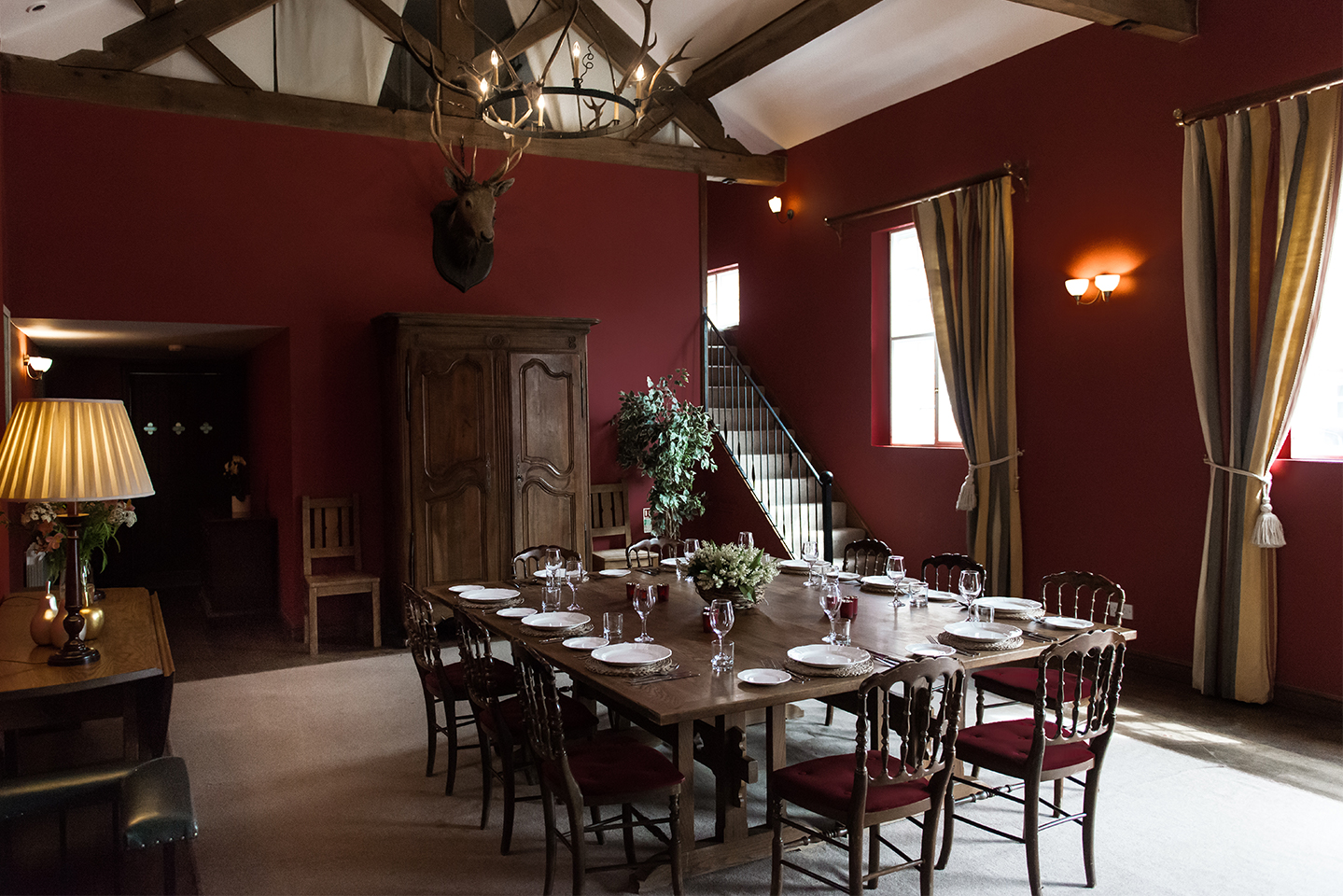 Dine in luxury in the Beckett cottage at Combermere Abbey's holiday accommodation in Cheshire