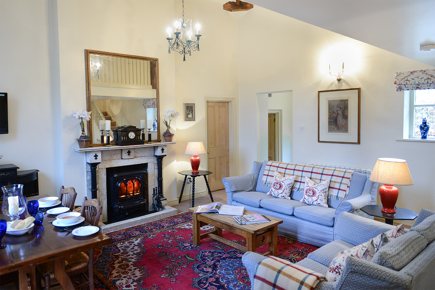 The beautifully light and airy Empress cottage at Combernere Abbey offers contemporary holiday accommodation in Cheshire