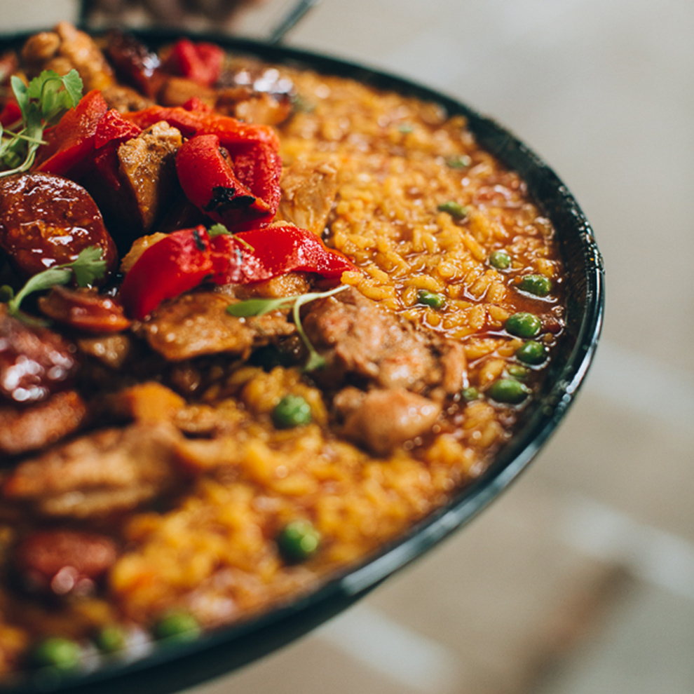 For your wedding at Combermere Abbey Paella is a great wedding breakfast option