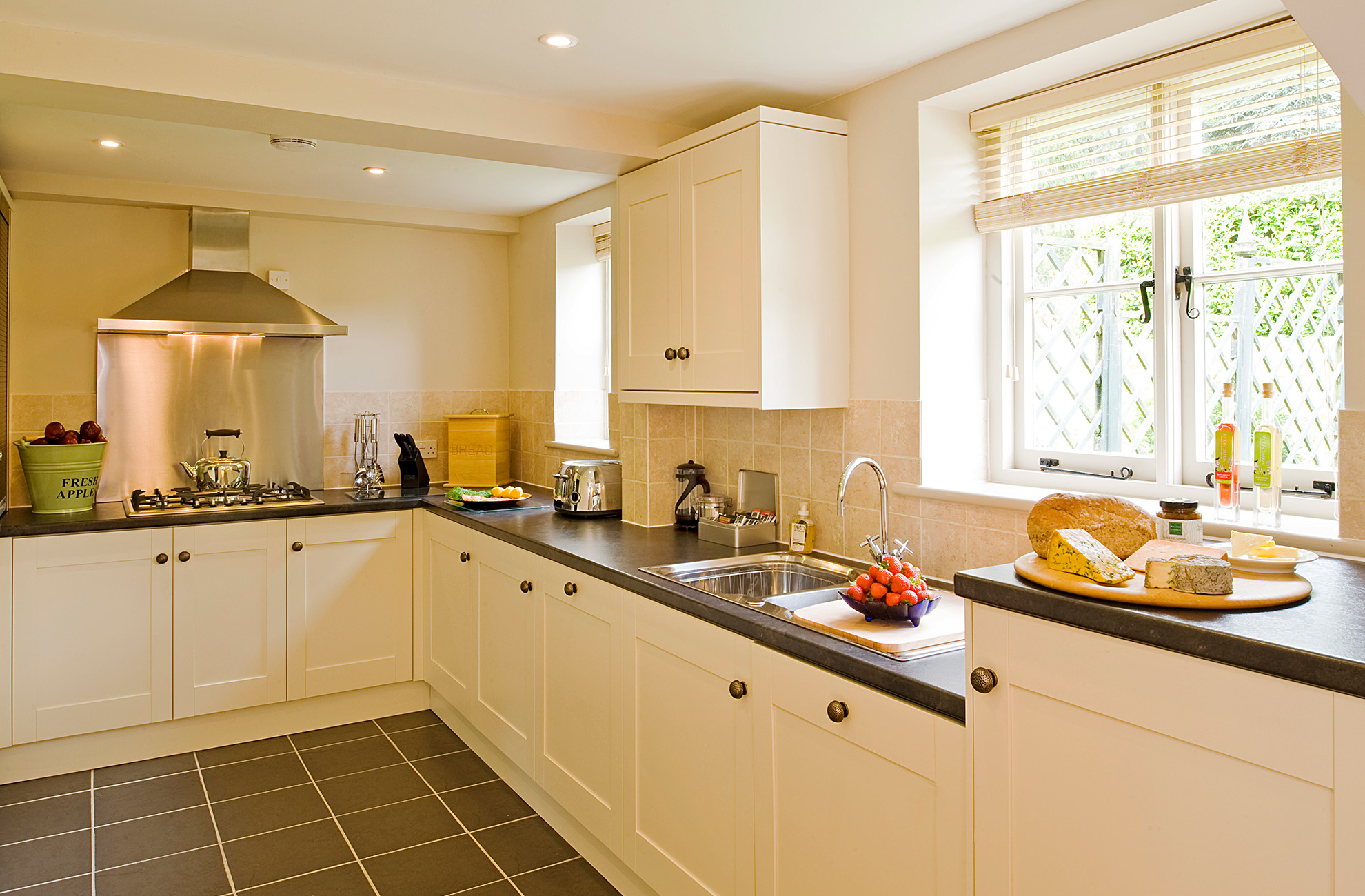 The Malbanc Cottage Is a self catering cottage at Combermere Abbey and comes with Its own kitchen
