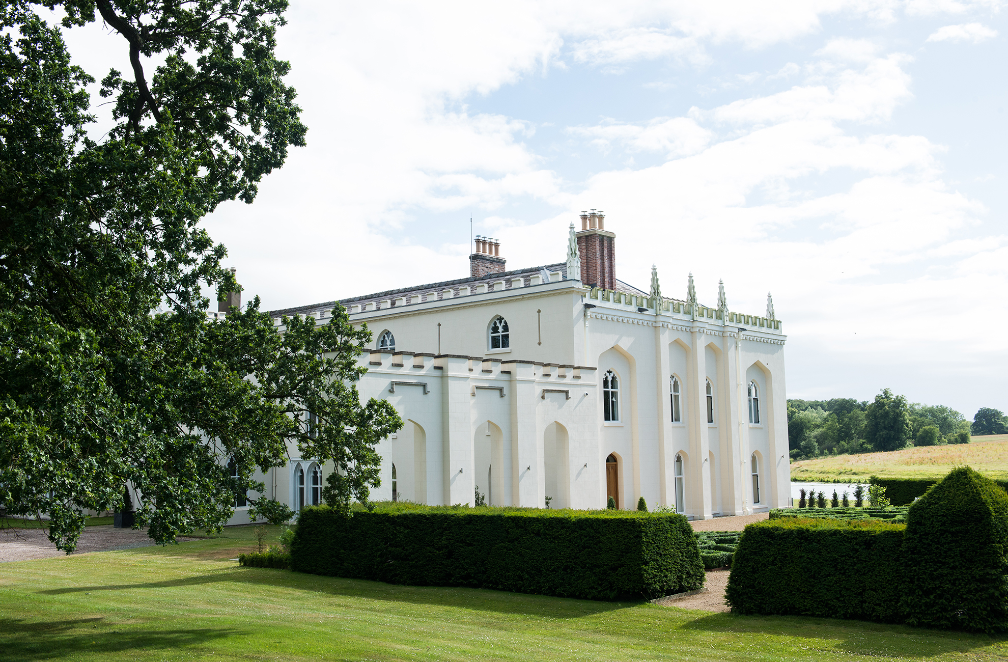 The North Wing at Combermere Abbey holds many love stories within its walls