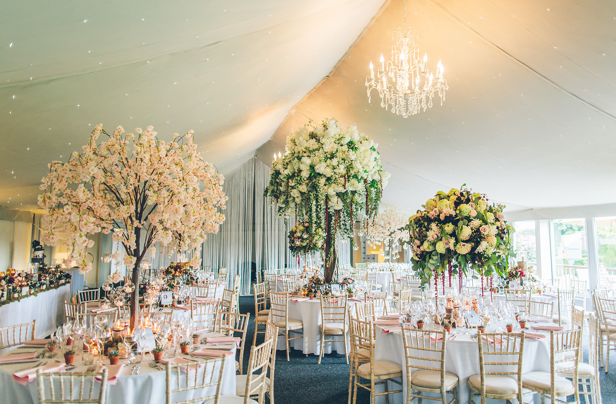The Pavillion at Combermere Abbey wedding venue is the perfect spot for your wedding reception