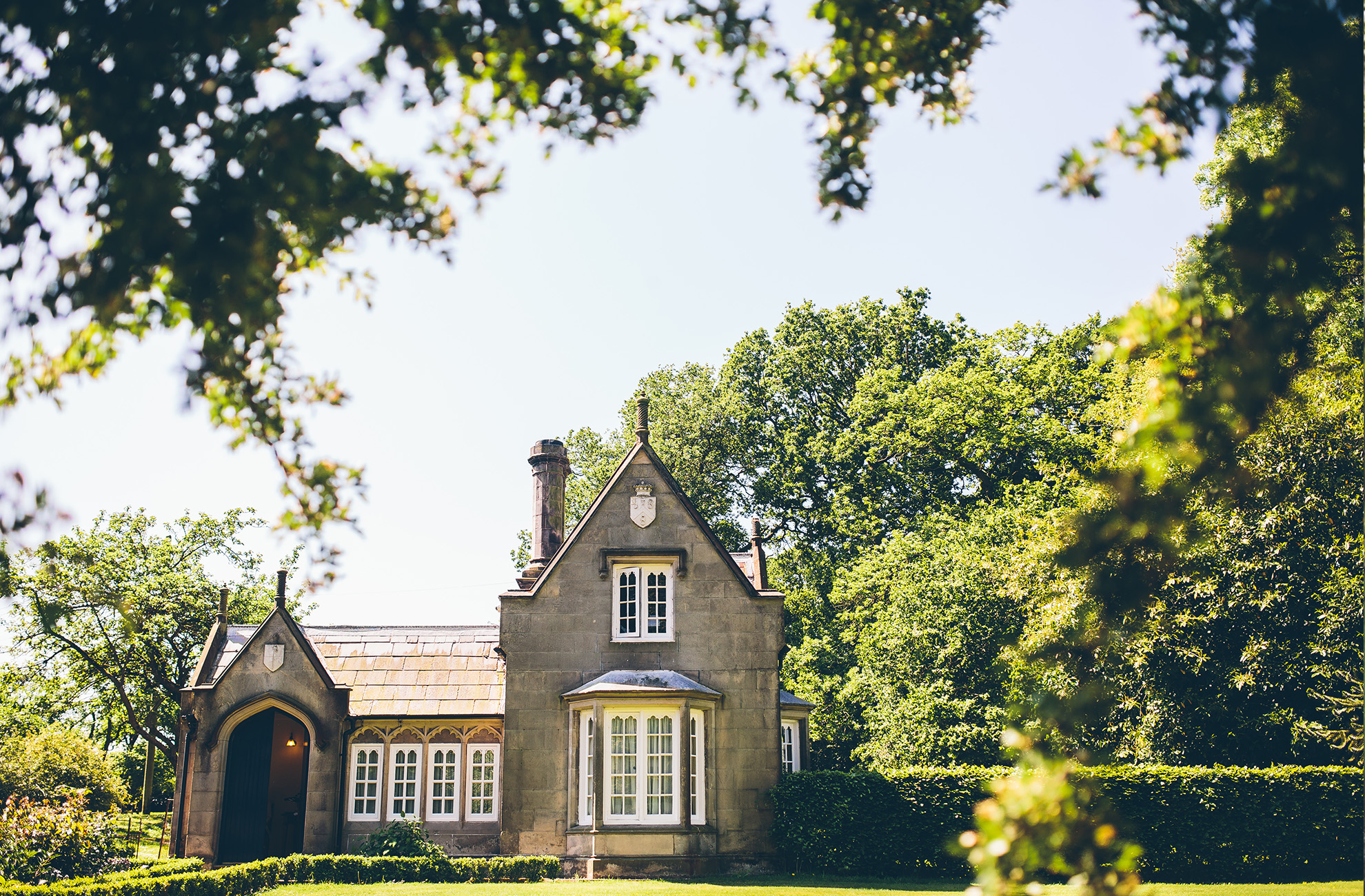 Enjoy an night in the Stone Lodge the night before your wedding day at Combermere Abbey