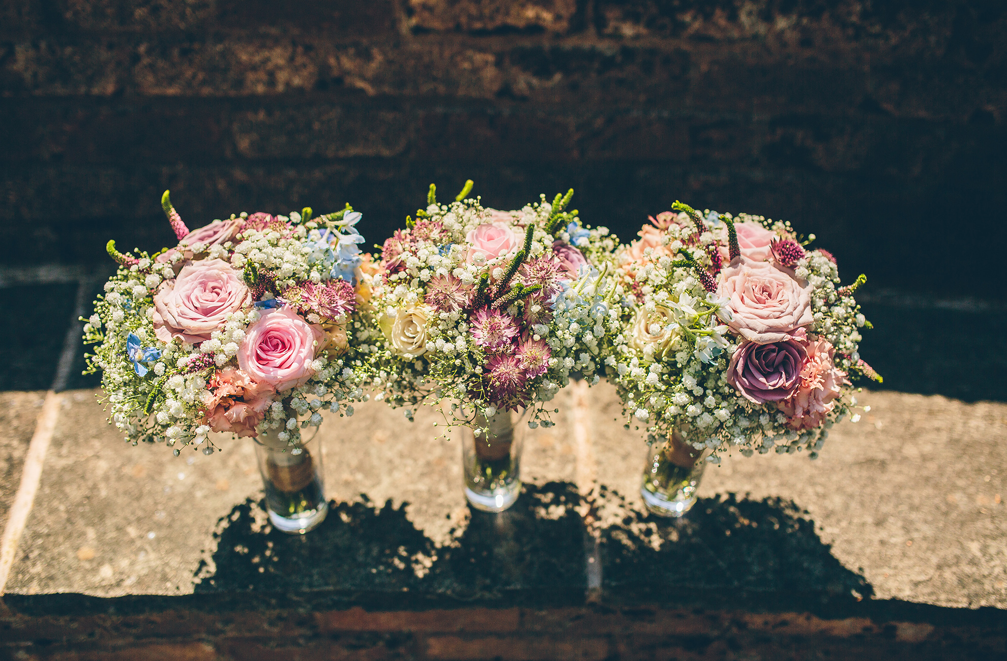 A selection of wedding bouquets and flowers can really set off your wedding reception at Combermere Abbey