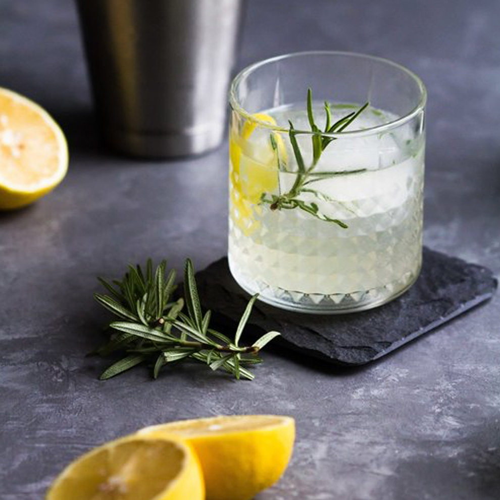 A simple gin and tonic is perfect for a spring wedding drink at Combermere Abbey