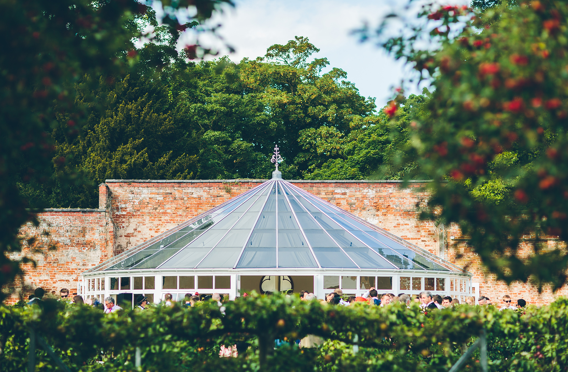 The Glasshouse at Combermere Abbey looks stunning in the spring sunshine