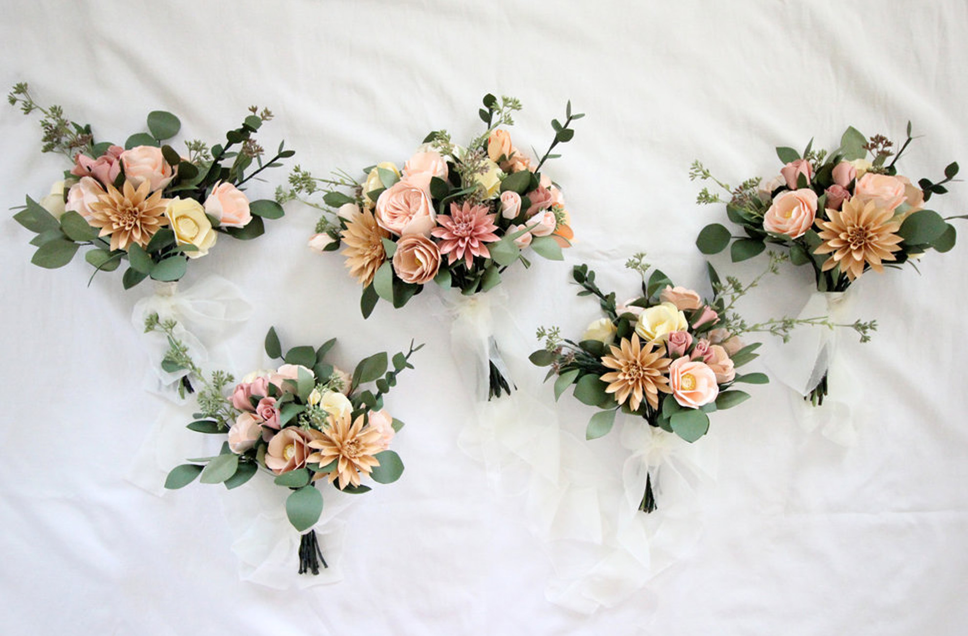 A selection of alternative wedding bouquets for a summer wedding at Combermere Abbey