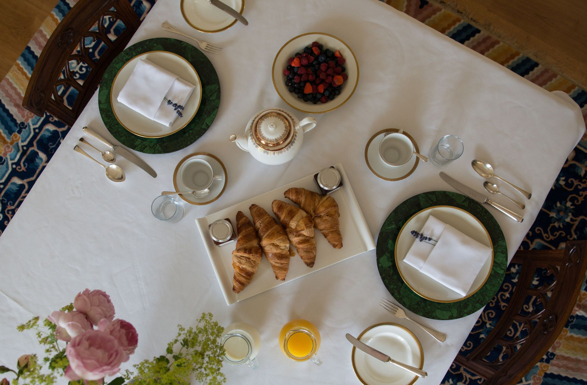 Enjoy a delicious breakfast during your luxury break at Combermere Abbey