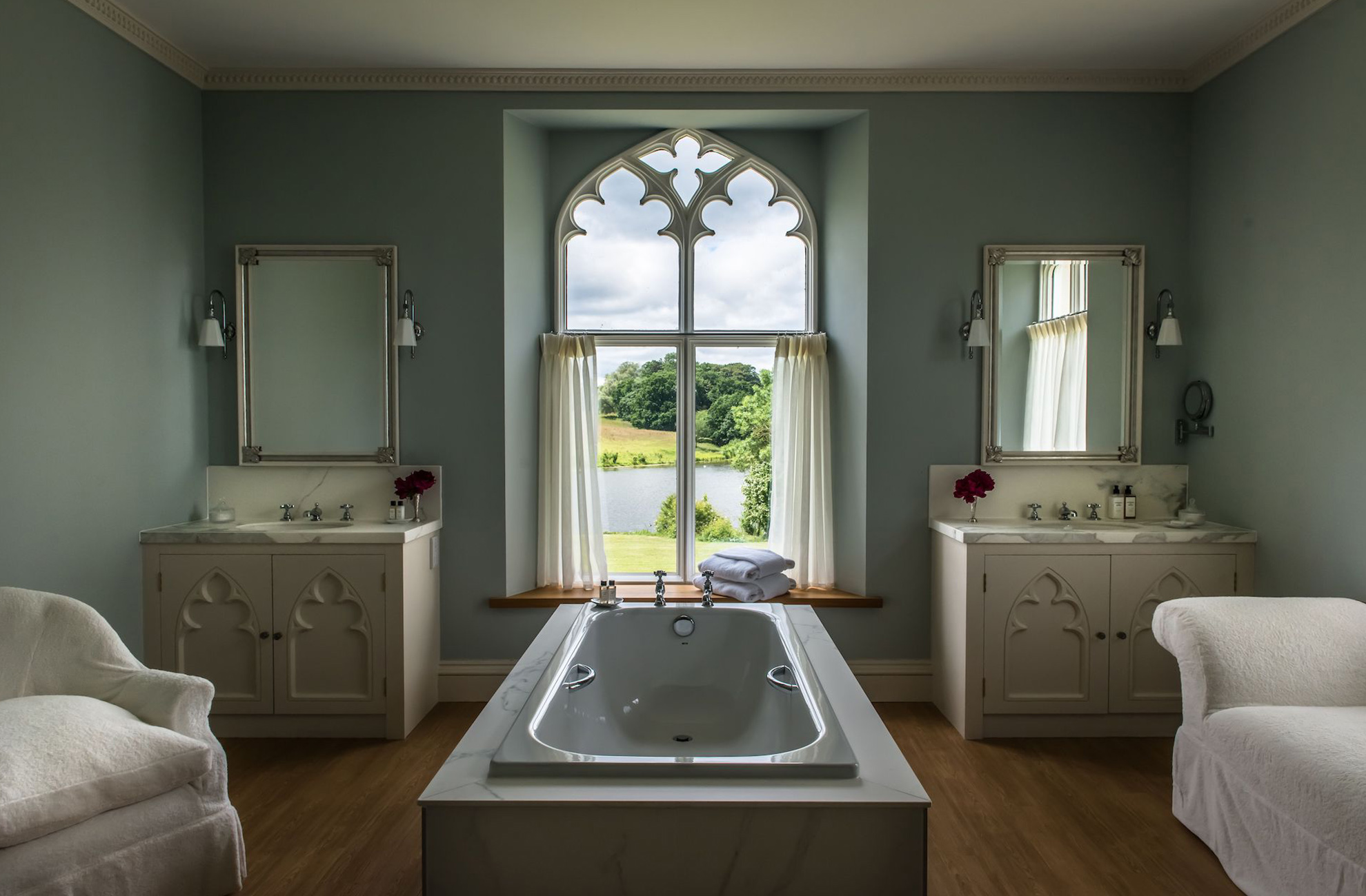 On your overnight stay at Combermere Abbey relax in one of our luxury bathrooms
