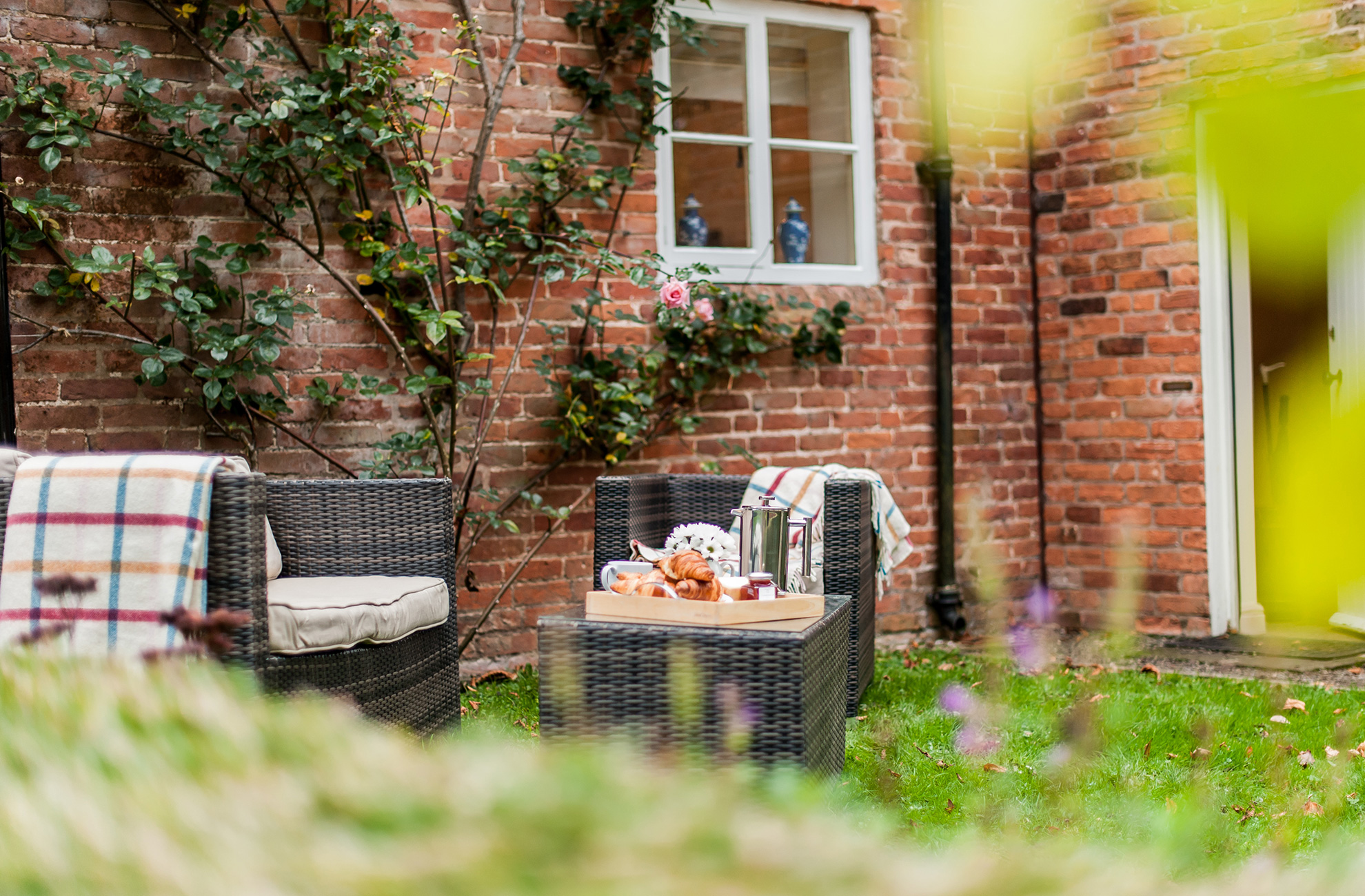 Enjoy breakfast outdoors at Combermere Abbey