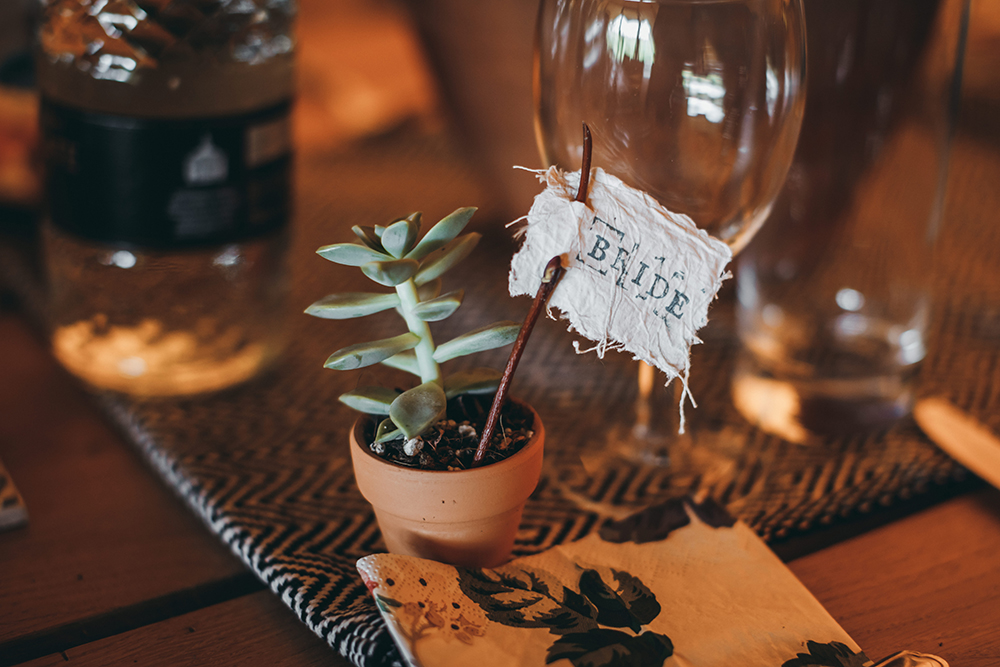 Autumn wedding succulents idea