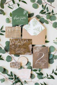 Eco-friendly wedding invites