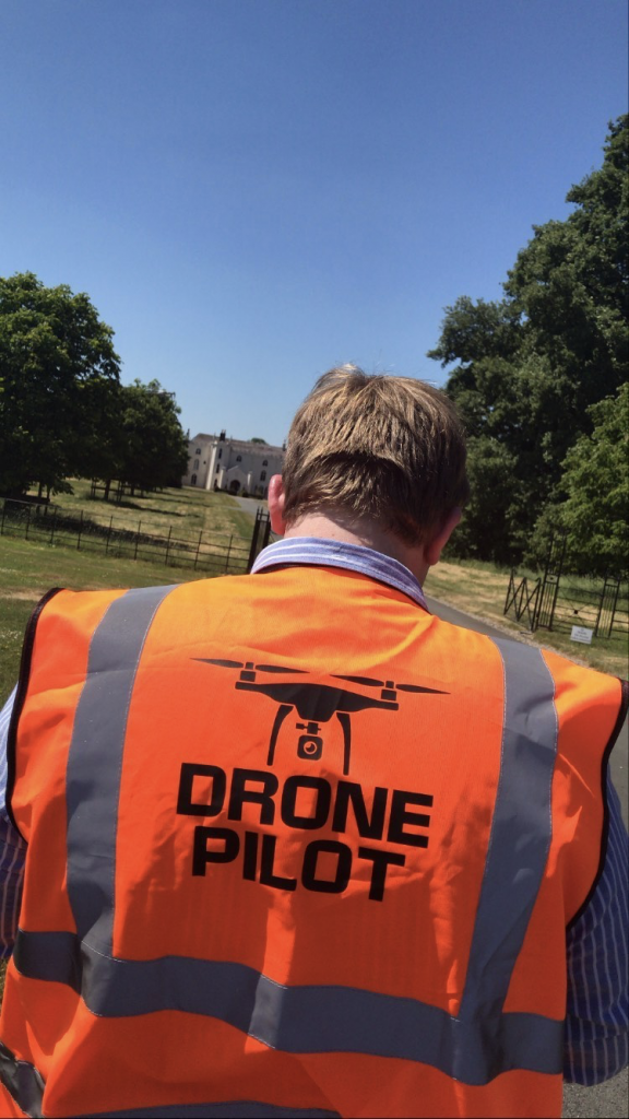 Drone videography at Combermere Abbey