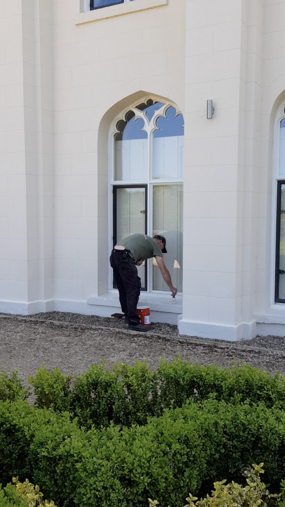 Painting the North Wing at Combermere Abbey