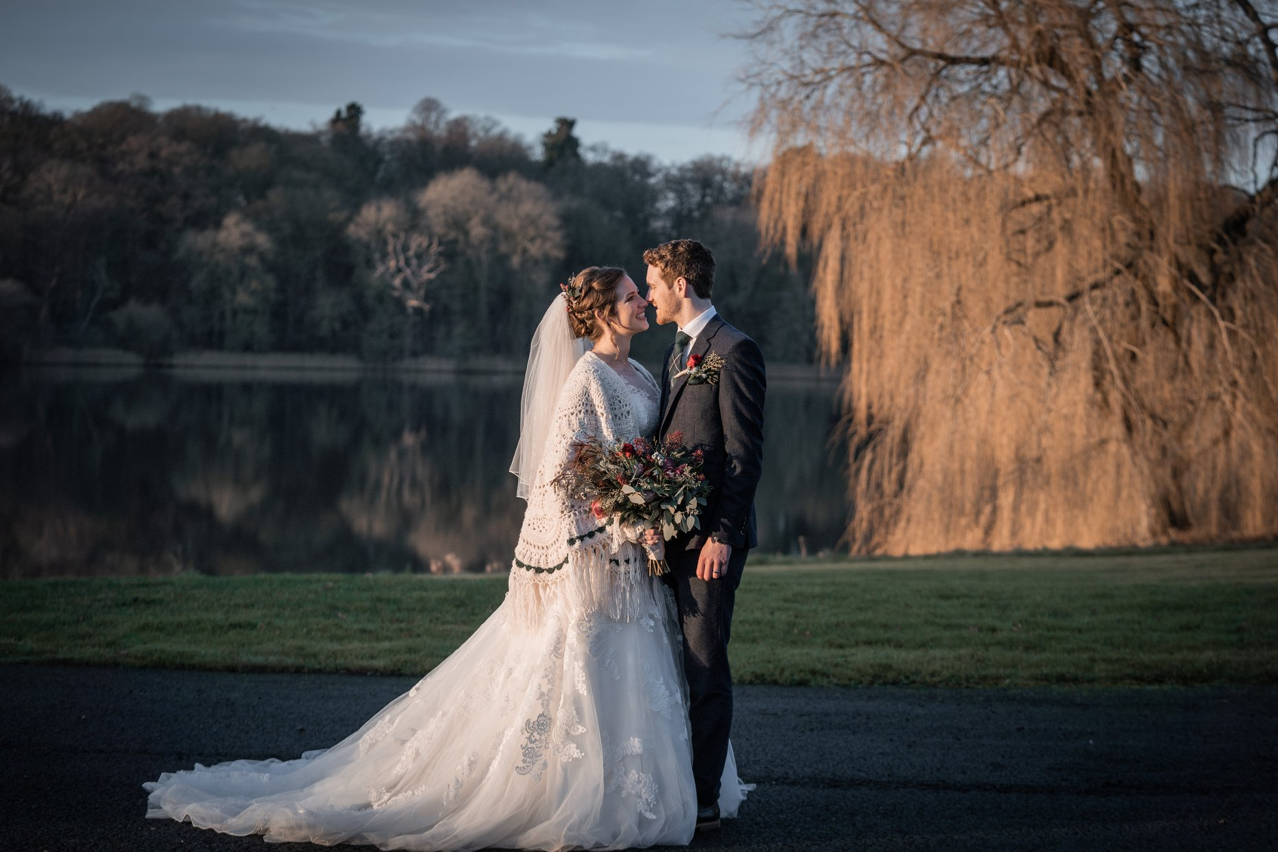 Outdoor winter weddings at Combermere Abbey